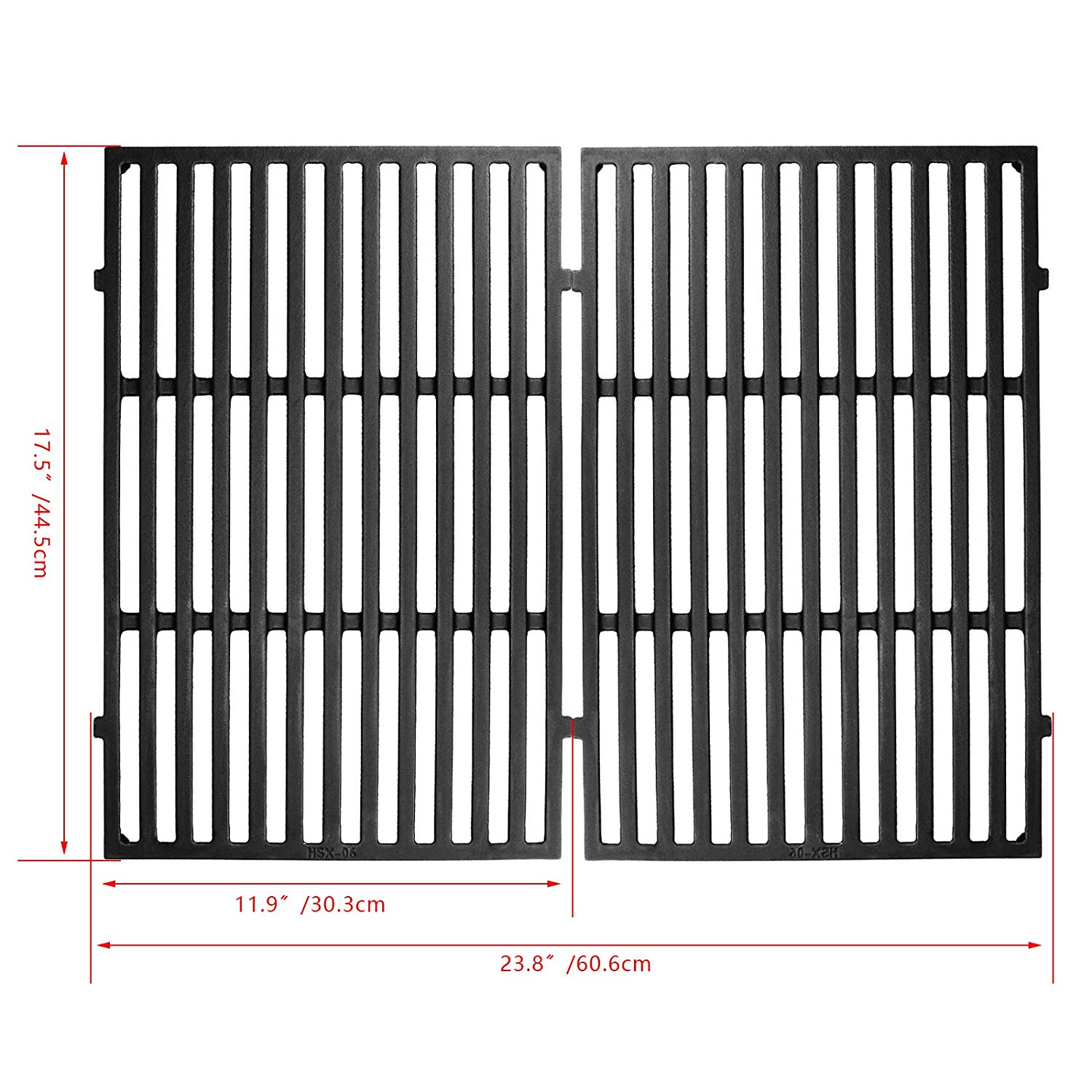 Hisencn 7638 17.5 Inches Cooking Grates for Weber Spirit 300 Series, Spirit 700, Genesis Silver Gold