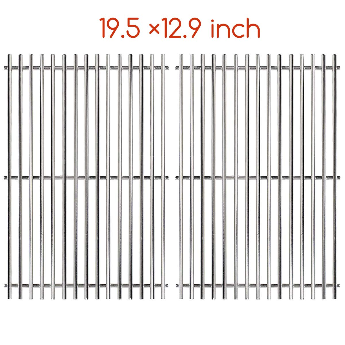 Hisencn 7528 Stainless Steel Cooking Grid Grate (19.5 x 12.9 inch) for Weber Genesis E and S Series
